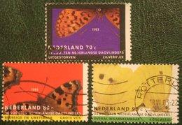 BUTTERFLY, SCHMETTERLING, PAPILLON, VLINDE NVPH 1553-1555 (Mi 1470-1472); 1993 Gestempeld / USED NEDERLAND / NIEDERLANDE - 1980-... (Beatrix)