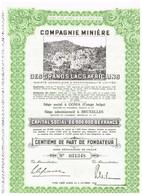 Titre Ancien - Compagnie Minière Des Grands Lacs Africains -Société Congolaise à Responsabilité Limitée - Afrika