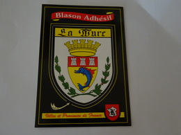 Blason écusson Autocollant Adhésif Coat Of Arms Sticker Aufkleber Wappen La Mure (Isère) - Obj. 'Souvenir De'