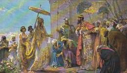 AK Die Heilige Schrift - Salomo Empfängt Die Königin Von Saba - 1. Könie 10, 2 - Rob. Leinweber  (45721) - Christendom
