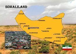 Somalia Somaliland Region Map New Postcard Landkarte AK - Somalie