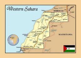 Western Sahara Map New Postcard Westsahara Landkarte AK - Westsahara