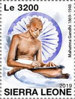 Z08 SRL191016a SIERRA LEONE 2019 Mahatma Gandhi MNH ** Postfrisch - Sierra Leone (1961-...)