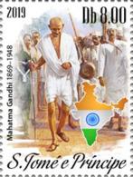 Z08 ST190615a Sao Tome And Principe 2019 Gandhi MNH ** Postfrisch - Sao Tomé E Principe