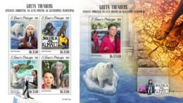 Z08 ST190714ab Sao Tome And Principe 2019 Greta Thunberg MNH ** Postfrisch - Sao Tomé E Principe
