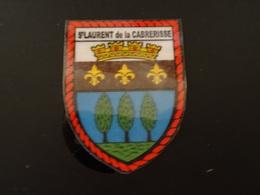 Blason écusson Autocollant Adhésif Coat Of Arms Sticker Aufkleber Wappen Saint Laurent De La Cabrerisse (Aude) - Obj. 'Souvenir De'