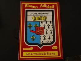 Blason écusson Autocollant Adhésif Coat Of Arms Sticker Aufkleber Wappen Chateaubriant (Loire Atlantique) - Recordatorios