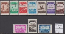 1938. CABO JUBY. 1Flugzeug über Landschaften. Nicht Ausgegebene Marken Von Spanisch-M... (Michel 98-107) - JF317881 - Cape Juby