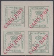 1919. CABO JUBY. 1/4 CENT 4-BLOCK  (Michel 5) - JF317882 - Cabo Juby