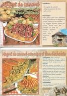 Recettes De Cuisine - Lots De 3 Cartes De Recette - 2 De Magret De Canard - 1 De Civet De Marcassin - Voir Scan - Vierge - Recipes (cooking)