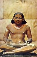 The Egypium Museum - Cairo - Statuepeinte D'un Scribe Accroupi IVe Dynastie - Formato Grande Non Viaggiata – E 7 - Musei