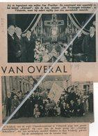 """VILVOORDE..1938..1939..DE GROEP """" LUSTIGE SCHAFELEERS """"/ BEGRAFENIS VAN JAN PRECKHER FANFARE """"DE VEREENIGDE VRIENDEN - Alte Papiere"""