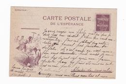 Carte En Franchise Militaire De L'espérance - Génie Tranchées - Simili Timbre Semeuse - Marcophilie (Lettres)