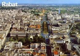 Rabat - Vue Erienne Sur L'avenue Mohammed V - Formato Grande Non Viaggiata – E 7 - Cartoline