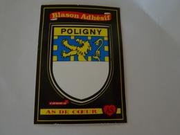 Blason écusson Adhésif Autocollant Poligny (Jura) - Obj. 'Remember Of'