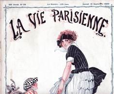 Le Golf  Superbe Illustration De René Vincent Golfeuse Et Son Caddy Couverture La Vie Parisienne Revue érotique 1920 - Books, Magazines, Comics