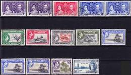 Gilbert And Ellice Islands 1937-1946 Lot Of King George VI. Issues Used O And MH * - Isole Gilbert Ed Ellice (...-1979)