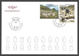 Iceland - Sheep Gathering, FDC, 2009 - Ferme