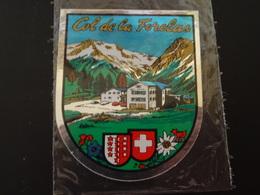 Blason écusson Adhésif Autocollant Aufkleber Wappen Col De La Furka - Obj. 'Souvenir De'