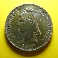 Portugal 1 Escudo 1916 Silver - Portugal