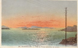 *** 13  ***  MARSEILLE  îles Du Frioul Coucher De Soleil - Neuve Excellent état - Castellane, Prado, Menpenti, Rouet