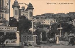 CPA MONTE-CARLO - La Gare Pour La Turbie - Monte-Carlo