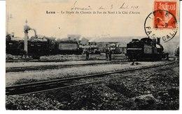 Nord LENS Le Dépôt Du Chemin De Fer Du Nord à La Cité D'avion (locomotive) - Non Classés