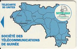 GUINEA - Blue Map 50 Units, Sample(no Chip, No CN) - Guinea