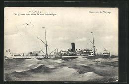 AK Passagierschiff Ionie - Par Grosse Mer Dans La Mer Adriatique - Paquebots