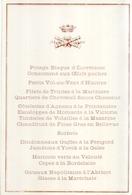 Superbe Menu Officiel Ancien XIXème Couronne + Longues Vues Croisées - Menus