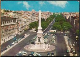 °°° 14955 - PORTUGAL - LISBOA - PRACA DOS RESTAURADORES - 1967 With Stamps °°° - Lisboa