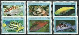 Benin 1997 Mi 978-983 MNH ( ZS5 BNN978-983dav37A ) - Fishes