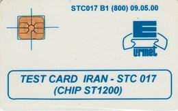 IRAN / URMET TEST CARD, RARE 800 Ex. Only - Iran