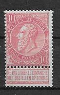 OBP58, Postfris** - 1893-1900 Fine Barbe
