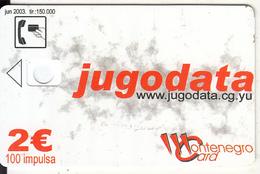 MONTENEGRO - Jugodata/Compaq, 06/03, Dummy Telecard(no Chip, No CN) - Montenegro