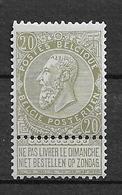 OBP59, Postfris** Met Stempeltje - 1893-1900 Fine Barbe