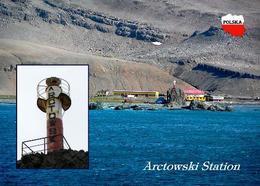 Antarctica Arctowski Station Lighthouse New Postcard - Sonstige