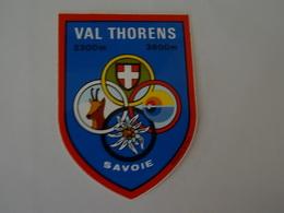 Blason écusson Adhésif Autocollant Aufkleber Wappen Val Thorens - Obj. 'Souvenir De'