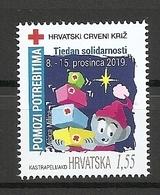 CROATIA 2019,RED CROSS,,ADITIONAL STAMP,, ,MNH - Croacia