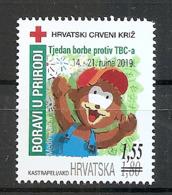 CROATIA 2019,RED CROSS,BEAR,ADITIONAL STAMP,TBC,, ,MNH - Croacia