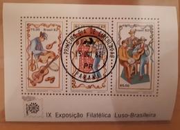 +Brésil Brazil 1982, 1822a, Danseurs Et Musiciens-IX Expo Filatelica-souvenir-FDC, 3v, O - Gebruikt