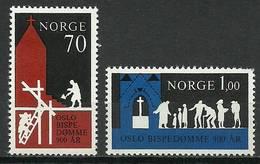 Norway 1971 Mi 627-628 MNH ( ZE3 NRW627-628dav100D ) - Godsdiensten