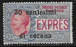 Italy Occupation Austria Scott # NE3 MNH Italy Espresso Stamp Surcharged, 1919 - Austrian Occupation