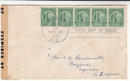 U.S. / 1943 Freedom Stamps / Censorship / Uganda Postmarks - Etats-Unis