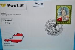 SR0331 Euro FDC Hl. Martin, Schutzpatron Burgenland, Heiliger, Religion, 7000 Eisenstadt 7.11.2008 - FDC