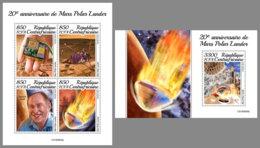 CENTRALAFRICA 2019 MNH Mars Polar Lander Space Raumfahrt Espace M/S+S/S - OFFICIAL ISSUE - DH1950 - Spazio