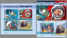 GUINEA REP. 2019 MNH Yuri Gagarin Vostok 1 Space Raumfahrt Espace M/S+S/S - OFFICIAL ISSUE - DH1950 - Spazio