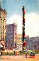 Washington Seattle Totem Pole At Pioneer Square 1909 Tucks - Seattle