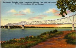 Kentucky Owensboro Kentucky Bridge Crossing The Ohio River Curteich - Owensboro