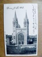Old Post Card Carte Karte Italy Torino 1912 Chiesa Del Sacro Cuore Church - 1900-44 Vittorio Emanuele III
